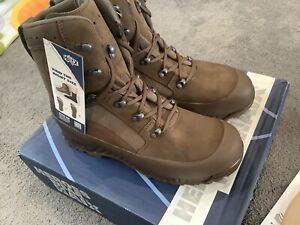 HAIX  BROWN Suede Leather  HIGH LIABILITY COMBAT BOOTS BRITISH ARMY NEW uk 9 m