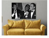 Dean Martin, Sammy Davis Jr. And Frank Sinatra Laughing  Canvas Wall Art