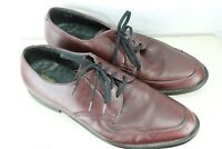 Executive Imperial 9.5 D Red Brown Leather Oxford Men's Shoes