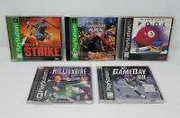 PlayStation 1 PS1 Game Lot of 5 - Soviet Strike, NFL Gameday 99, TNN and More