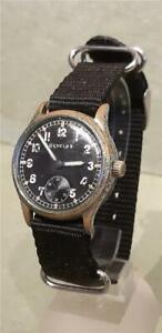 Vintage WW2 German Military Wristwatch by Glycine for Restoration