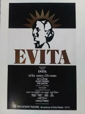 """Evita"" - 14"" x 22"" Broadway Theatre Window Card"