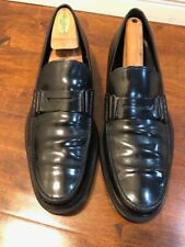 Tods Mens Shoes Black Leather Loafer Slip On Italina Made Size 9.5 US