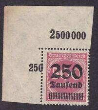 Germany 1923 - 250 Tausend on 500M - SG292 - Corner MNH (C4J)