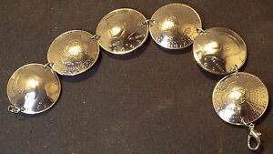 US Kennedy 50 Cent Coin Domed and made into a Bracelet