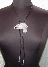Pewter American Eagle Bolo Neck Tie Jewelry Mens Southwest Patriotic