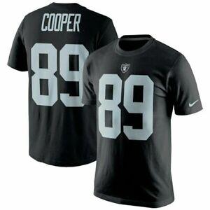 💯% Genuine Amari Cooper Las Vegas Raiders Nike Name & Number T-Shirt S- Black