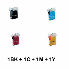 B80X4 4 CARTUCCE COMPATIBILI PER BROTHER BK C M Y BROTHER FAX 1920C