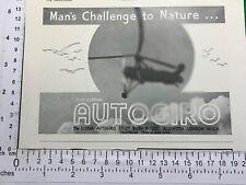 Cierva Autogiro vintage advert from 1937