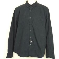 Cactus Man Ricky Singh Slim Fit Button Up Shirt Men Size L Blue  Micro Dot