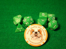 Wiz Dice - 7 Piece Polyhedral Set - Imperial Gem Green