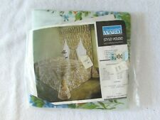 Vintage Montgomery Ward Draperies Curtains Blue Floral Julie Mod Fabric New