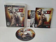 WWE '12 Sony PlayStation 3 2011 W12 PS3 Complete CIB Manual
