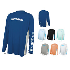 Shimano Long Sleeve Performance Tech Sun Shirt Tee- Pick Color/Size-Free Shipp