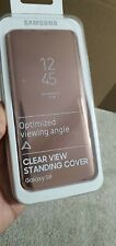 Genuine Samsung Galaxy S9 Clear View Standing Cover Case - Gold - EF-ZG960CFEGWW