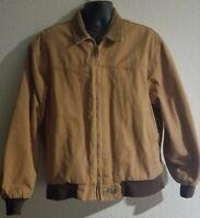 Mens L Brazos Chore Work Series Lined Coat Brown Heavy Duty Jacket EUC