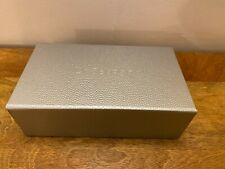 DR SEBAGH Empty Gift Box Magnetic Flap Lid SILVER New