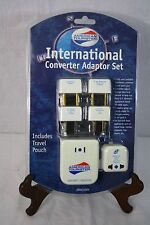 American Tourister International Converter Adapter Set Includes Travel Pouch