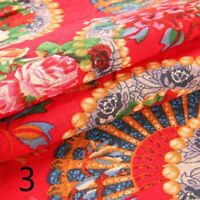 Tribal Ethnic Fabric Floral Upholstery Costume Table Cloth Cotton Linen Crafts