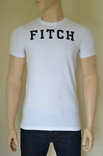 "Nueva Abercrombie & Fitch Railroad muesca Blanco ""Fitch"" Tee Camiseta Xl"