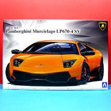 Aoshima 1/24 Lamborghini Murcielago LP670-4 SV model kit #007068