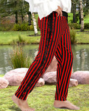 MEDIEVAL RENAISSANCE SIDESTRING STRIPED PANTS
