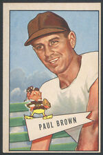 1952 BOWMAN LARGE #14 PAUL BROWN HOF ROOKIE CLEVELAND BROWNS WICHITA FIND