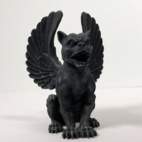 "Winged Gargoyle Resin Made 6.5"" Tall 1 lb 7 oz Gargoyle Themed Shelf Statue"