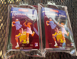 Lot Of 2 Packages Tourna Grip Racquet 10 Pack Tennis XL Overgrip Blue Dry Feel