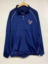 Houston Texans Reebok On Field NFL Football Full Zip Jacket Men's Sz Large L