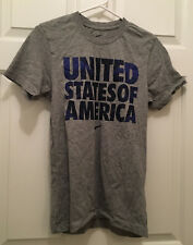 United States of America Nike Men's Soccer Team Usa Slim Fit Gray T-Shirt Small