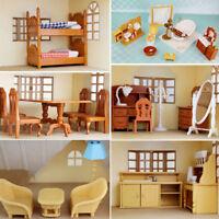 Plastic Table Miniature Doll House Furniture Toy Set Bathroom Kitchen Decoration