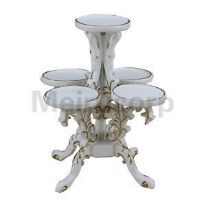 1/12 Scale Dollhouse Miniature Furniture Handmade Classical White Polygon Flower