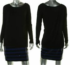 NWT Bailey 44     SZ M    Black Sequined Fly-Away Party Clubwear Tunic Dress