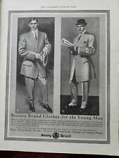 1909 Society Brand Mens Clothing Suit Cane Hat Fashion McCombs Art Ad