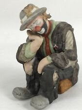 Flambro The Emmett Kelly Jr. Miniature Collection Clown Figurine Sitting Sad
