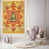 Indian God Buddha Wall Hanging Cotton Tapestry Meditation Home Decor Poster Mat