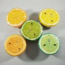 Floating Fruit Candles Set of 5 Orange Lemon Lime