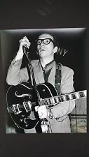ELVIS COSTELLO signed 11x14 photo - The Attractions - Proof
