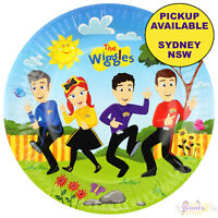 THE WIGGLES PARTY SUPPLIES 8 LARGE PLATES BIRTHDAY TABLEWARE