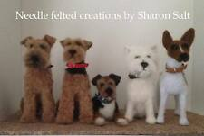 tiny leather collar,170mm x 6mm needle felted dogs and models, core wool, Ooak