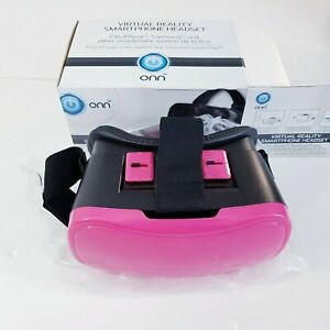 """Virtual Reality Headset for Samsung, iPhone & Others up to 6"""" Screen Pink NEW"""