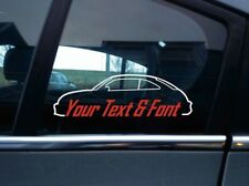 2x Custom, YOUR TEXT car Stickers - for VW Beetle (2012-present) volkswagen VAG