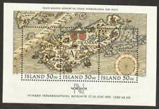 Iceland Stamp - Nordia 91 Map Stamp - NH