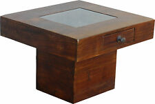 Beistelltisch, Couchtisch, Tisch, Glastisch, Sofatisch, Massivholz, Palisander