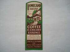 C1920S Vintage b.h.s. patria marca Esencia de Café y la achicoria Etiqueta del frasco