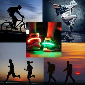 Luz LED Clic Para Zapatos Luz d Advertencia Para Ciclista/ Corredores/caminante