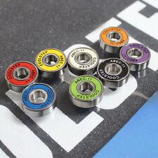 8pcs ABEC-11 Skateboard Bearings Speed Stainless Black Longboard  Rollerblade