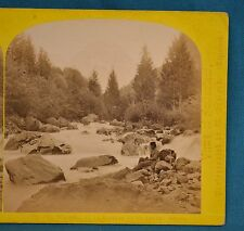1860s Suisse Stereoview 177 Todiberg Riviere Linth Alpine Club William England