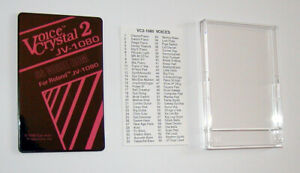 VOICE CRYSTAL 2 ROM CARD FOR ROLAND JV1080 JV2080 NEW!!!